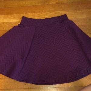 Deep Purple skater skirt
